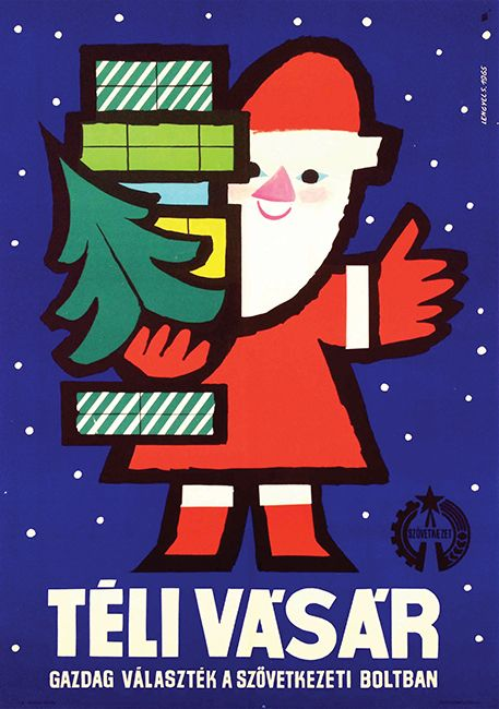 Winter Fair (Lengyel Sándor, 1965) - Get this poster at our auction on December 8! http://budapestposter.com/upload/angol_tanulm_kat_2014.pdf