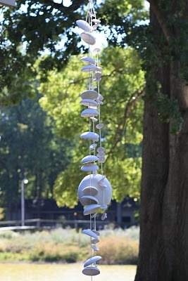 McCarty Wind Chimes  kids can do it with bottle caps or shells..n spray paint..