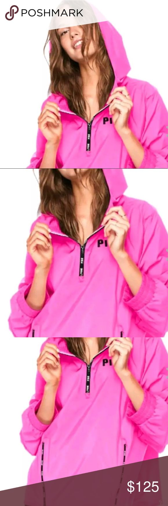🌷🌷VS Pink Anorak Jacket! 🌷🌷 Brand New and Never Worn!! This is a SOLD OUT and super LIMITED EDITION anorak jacket by Pink!! 🌟💯🙌 Size M/L  More images coming soon!!  TV is $150 PINK Jackets & Coats