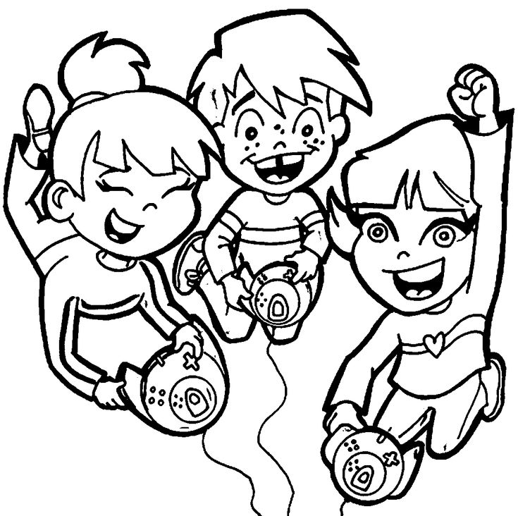 Playing Computer Games Coloring Pages - Wecoloringpage ...