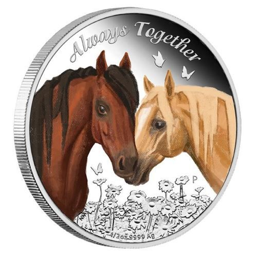 A lovely gift for horse lovers, friends, or someone truly special | Always Together 2017 1/2oz Silver Proof Coin | The Perth Mint