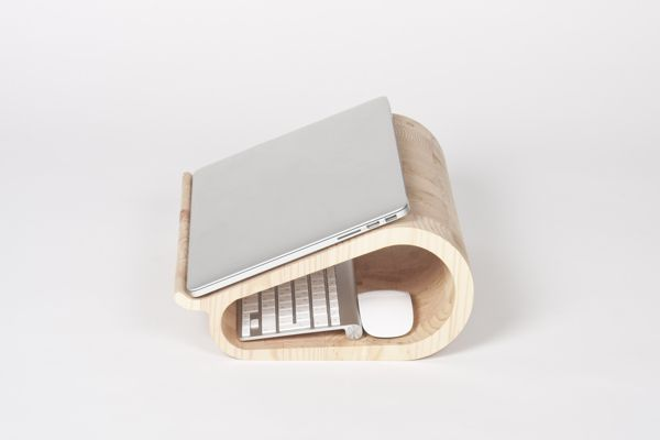 Vool. The Wooden Laptop Stand. by Lesha Galkin, via Behance