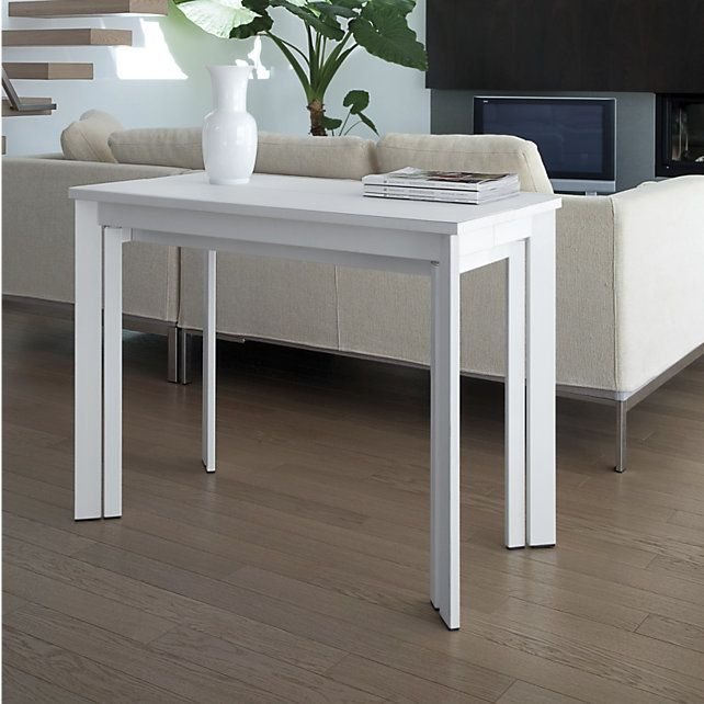 Top 25 best console extensible ideas on pinterest - Table console extensible blanche ...