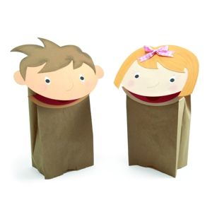 Boy and Girl Paper Bag Puppets