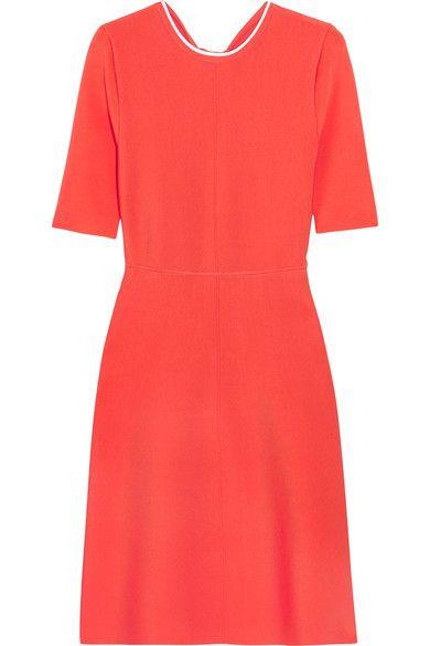 Victoria, Victoria Beckham - Open-back Ribbed Stretch-jersey Dress - Orange - UK10