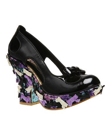 Take a look at this Black Giggly Woo Pump by Irregular Choice on #zulily today!