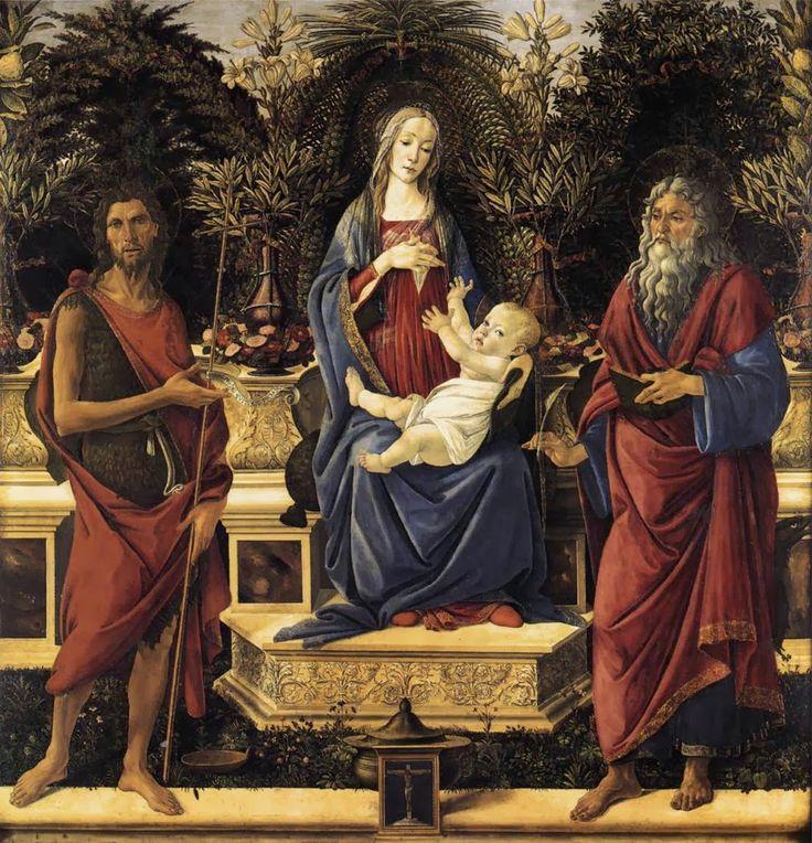 Παναγία βρεφοκρατούσα ένθρονη (1484)