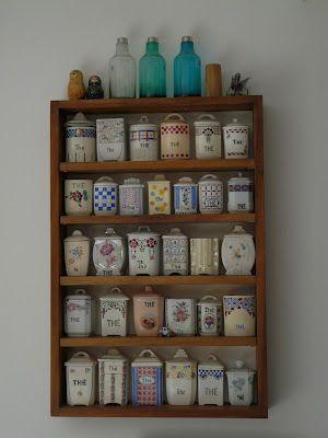collection de pots de thé