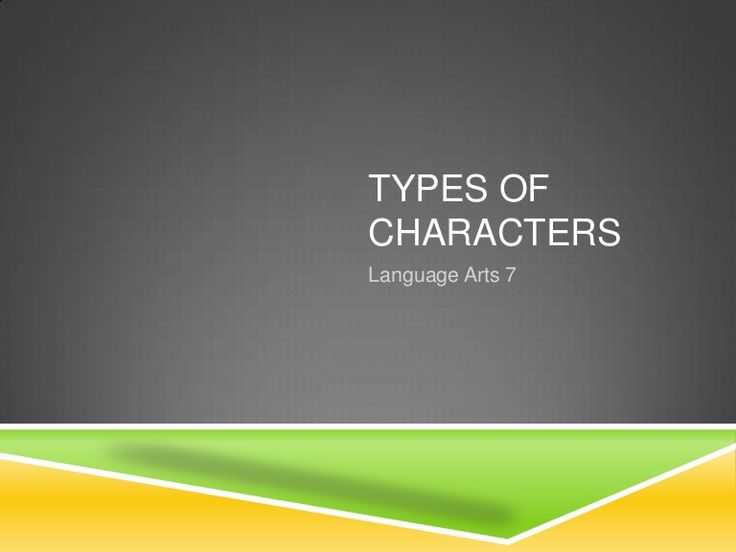 7 Best Staticdynamic Character Traits Images On Pinterest