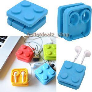 Block Earphone Holder Headphones Wire Organizer Cable Cord Wrap Earbud Winder | eBay