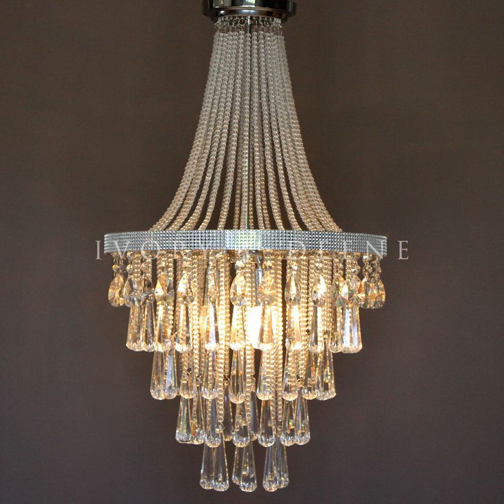 French Empire Basket Crystal Pendant Chandelier Olivia