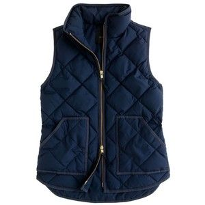 J.Crew Quilted Vest - Dark Navy