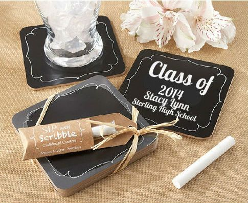 We Promise Your Guests Wont Get Bored Of These Sip And Scribble Chalkboard Coaster Wedding Favors