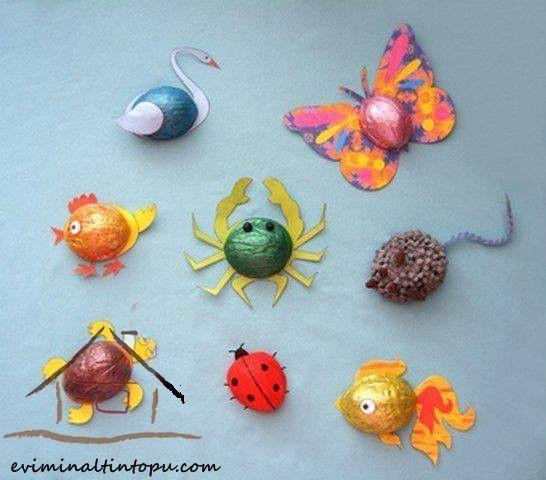 Walnut shell craft ideas   funnycrafts                                                                                                                                                                                 More
