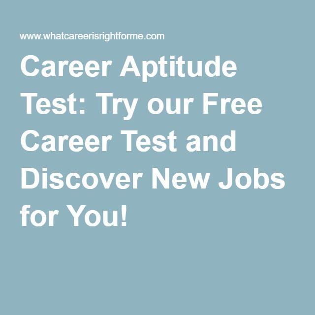Best 25+ Job Aptitude Test ideas on Pinterest | Career aptitude ...