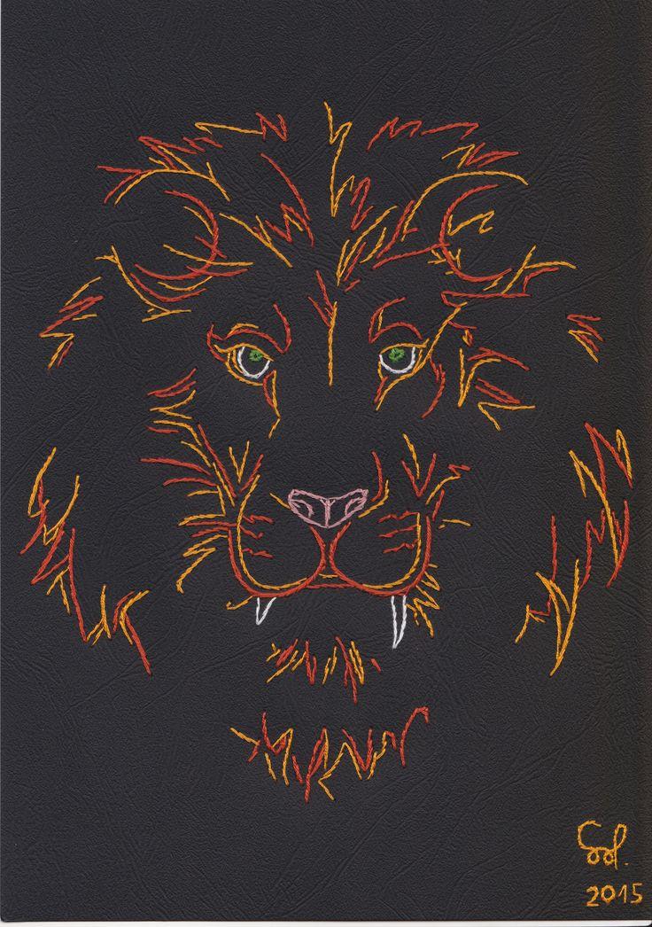Lion string art fadengrafik fonalgrafika my stuff for String art patterns animals
