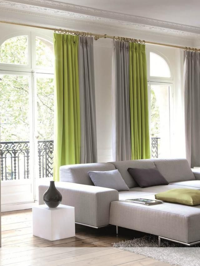 Alendel Fabrics Oscar Collection | Patterns Oscar in colour Grass & colour Aluminum