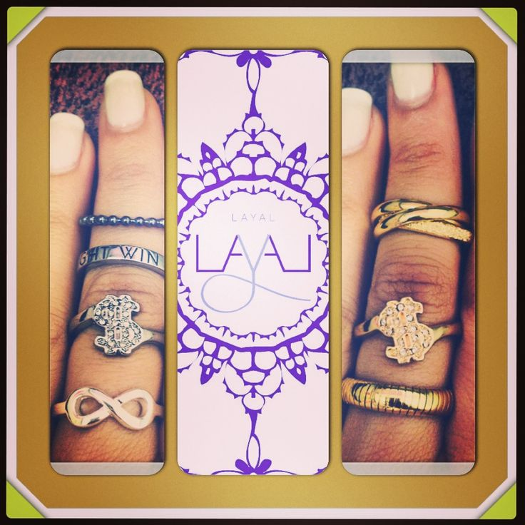 Layal glyfada small rings bling bling