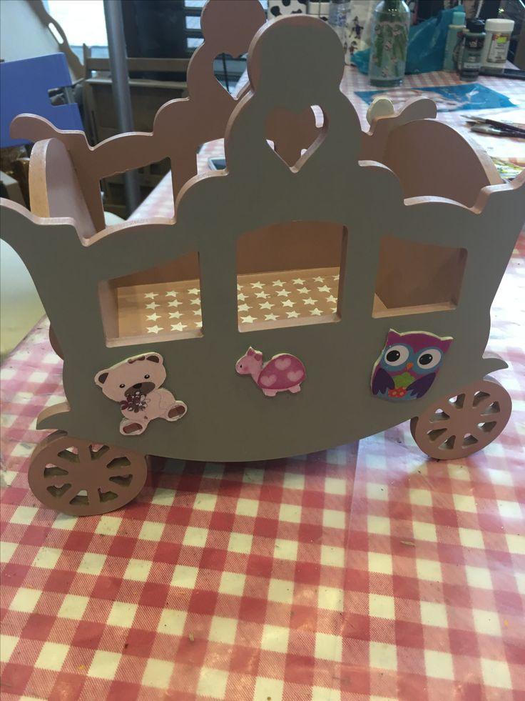 #ahşapboyama bebek arabası