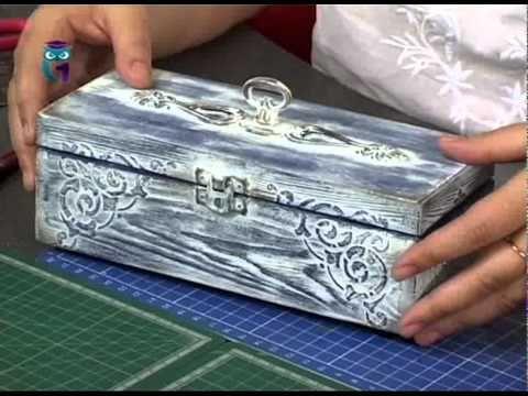 Декупаж и декораторские техники. Изучаем различные способы старения поверхности. - YouTube