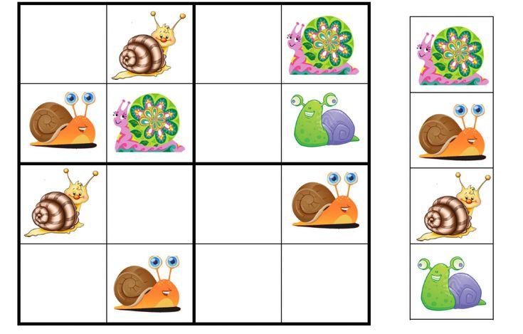 Resultat d'imatges de sudokus infantiles