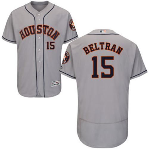 Astros Jose Altuve Grey Flexbase Authentic Collection 2017 World Series  Bound Stitched MLB Jersey