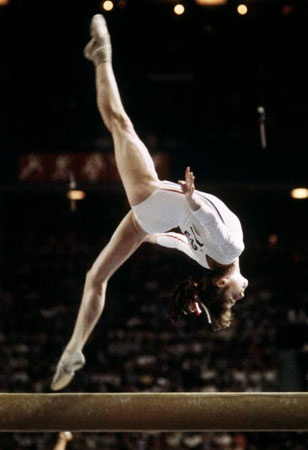 watching Olympic gymnastics makes me think of my hero when i was a little girl~Nadia Comanci (1976)~perfect 10, awesome!!