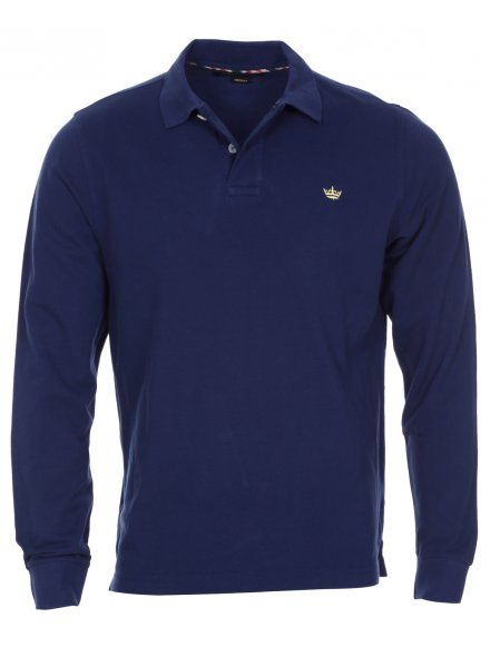 Twisted Soul Mens Ink Blue Long Sleeve Polo Shirt