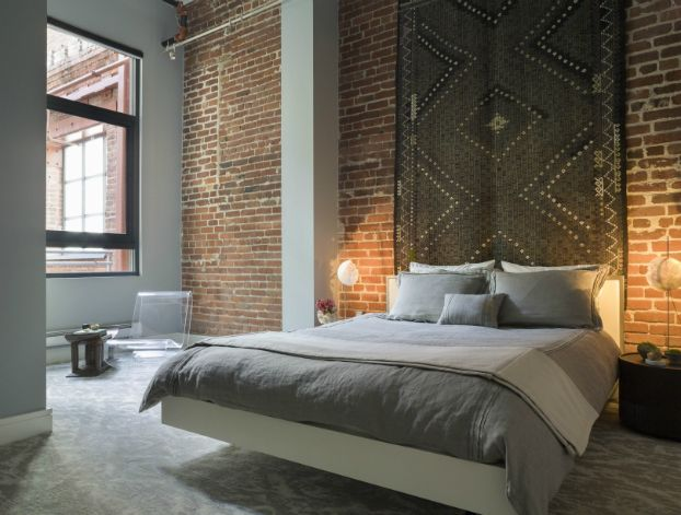 Clean Simple and Beautiful Loft Bedroom: