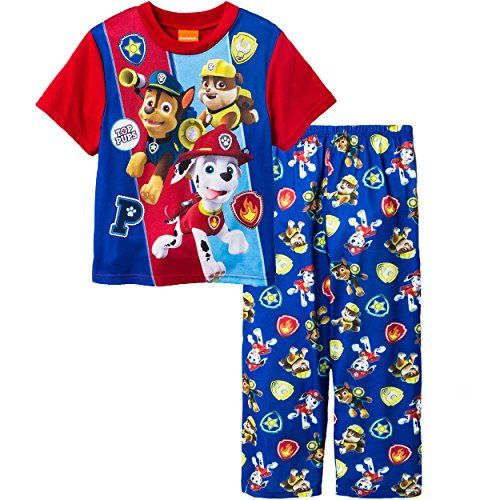 """PAW PATROL Boys """"Pup Watch"""" 2 -Piece Pajama Set ( Size 6, Color MULTICOLOR) - Blue - Red - Nickelodeon - Top Pups - Sleepwear - PJs - Chase - Rubble - Marshall - Style #211WN291BSLZA. AVAILABLE WHILE SUPPLIES LAST!  https://www.amazon.com/dp/B01MS6H6YP/ref=cm_sw_r_pi_dp_x_8m-7yb0337TSZ"""
