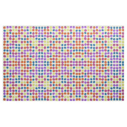 Retro circles pattern fabric