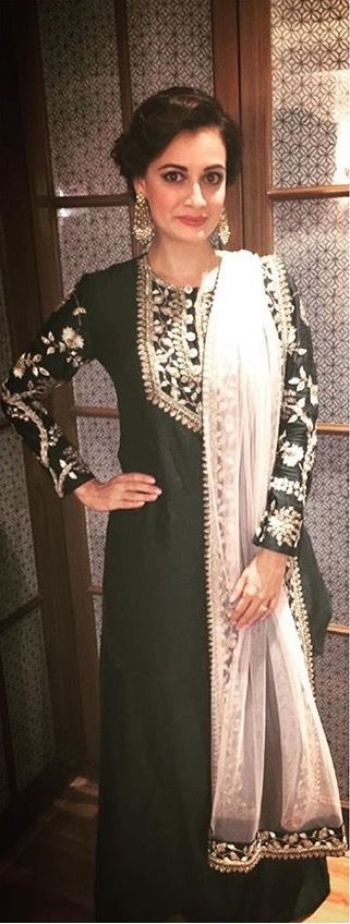 Festive wear kurta by payal singhal.... Love the stunning embroidary