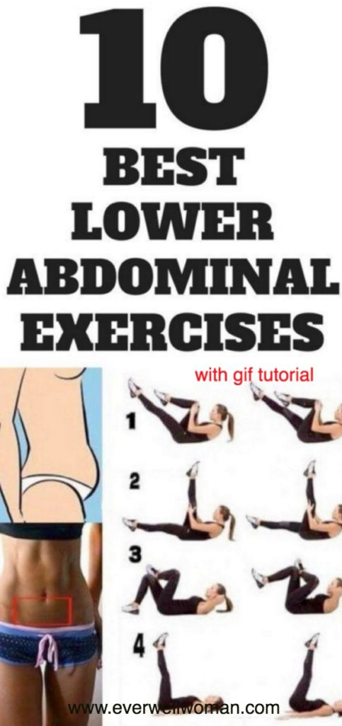 10 Best Exercises for Your Lower Abs With GIF Tutorial – Toned Chick