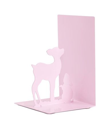 sale $8; Bookend in painted metal with an animal silhouette. Size 4 3/4 x 4 3/4 x 7 1/2 in.