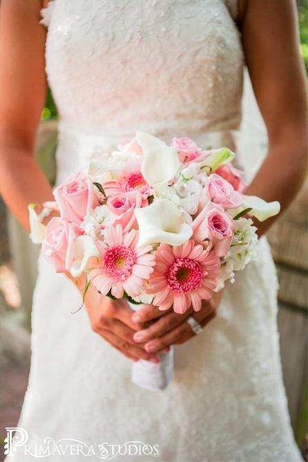 Gerbera daisies, Calla lilies