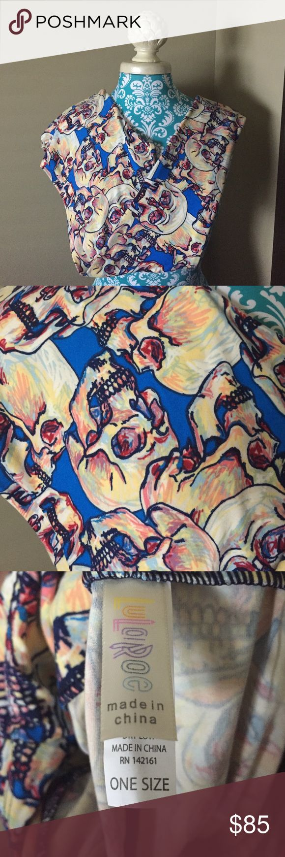 OS LuLaRoe Halloween Skeleton Leggings **UNICORN** Brand New LuLaRoe Skeleton Leggings. The colors are so VIBRANT and beautiful! The background is a bright blue, and the skeletons are hues of cream, yellow, pink, red, and blue. You don't want to miss these beauties!!! They are PERFECT for Halloween! 💀👻💀 *CROSS POSTED* I will ship out next day! LuLaRoe Pants Leggings