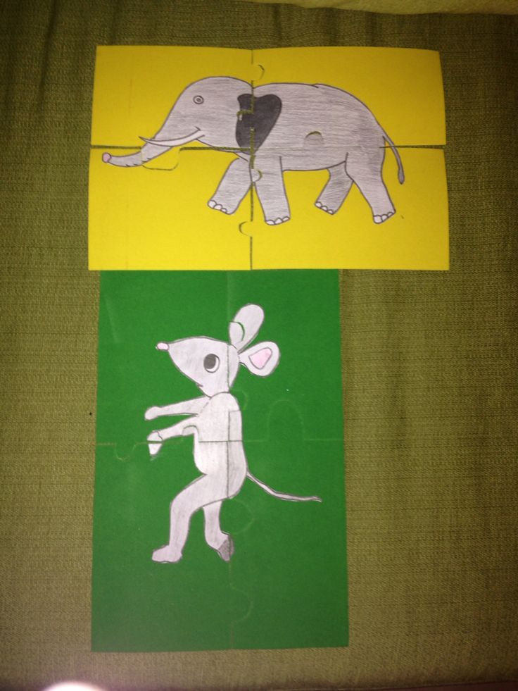 """Puzzle del cuento """"a que sabe la luna"""" para que los niños puedan conocer los animales del cuento"""