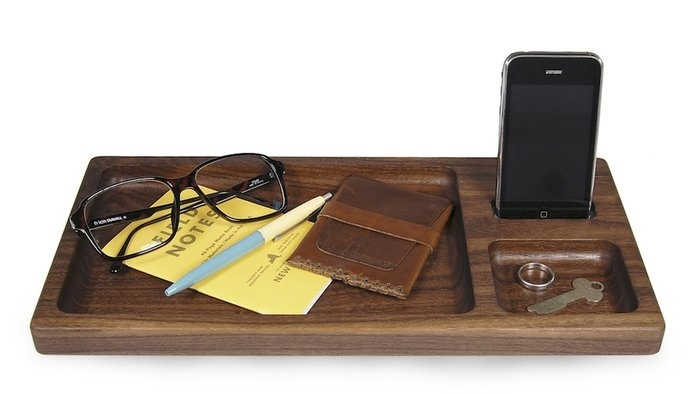 Apple Docking Tray  By Hekseskudd: Dock Trays, Gifts Ideas, Stuff, However Apples, Apples Devices, Iphone Dock, Walnut Dock, Products, Black Walnut