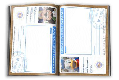 Free designs for a Disney autograph book.