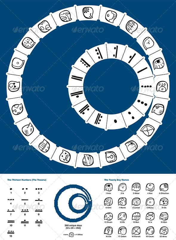 Tzolkin Maya Calendar #graphicriver                                                                                                                                                                                 More