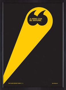 Batman film quote limited edition silkscreen poster
