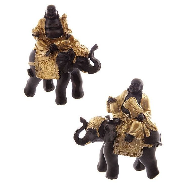 Gold and Brown Chinese Buddha Riding Elephant (Set of 2) http://ift.tt/2lcGbJf