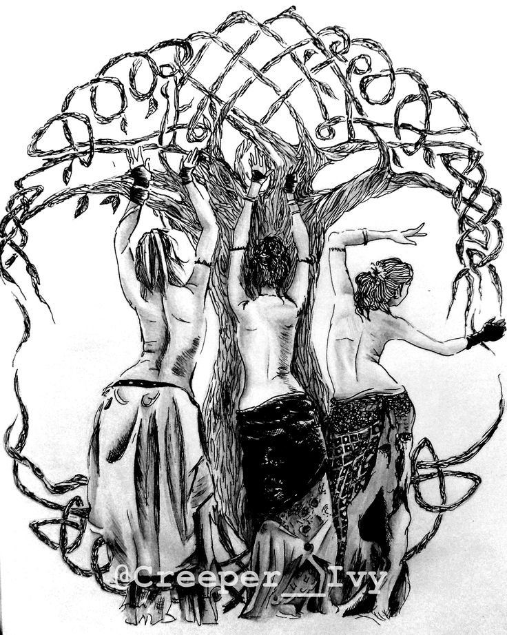 Norns and the Yggdrasil