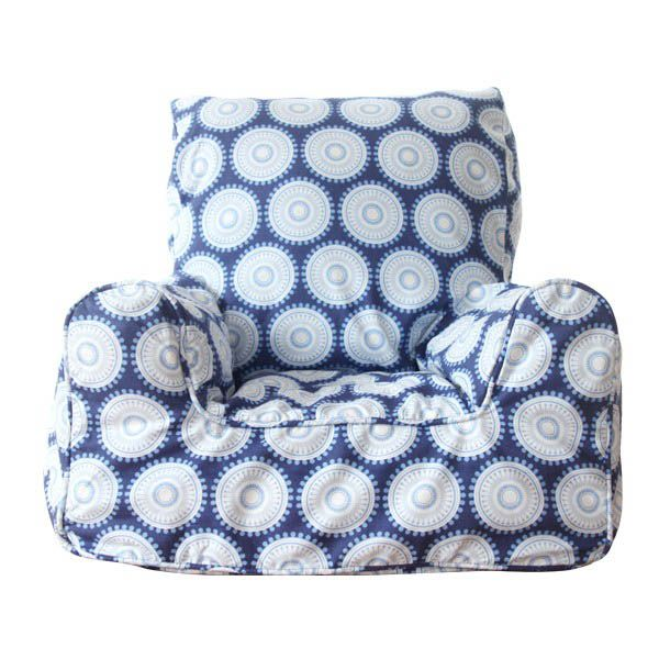 Lelbys-Kids Bean Bags-Bean Chair {Navy Freckles}  $109.00 #limetreekids #toys #kids #play #lounge #beanbag