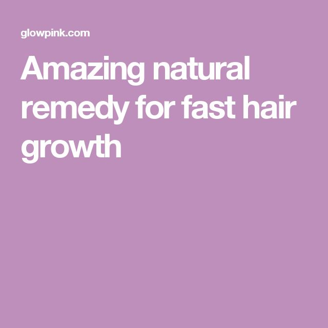 Amazing natural remedy for fast hair growth