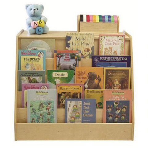 This double sided Book Display is the best of both worlds. One side features a classic book display with (5) shelves; the other side has (2) deep storage shelves that are perfect for storing toys, extra books and other classroom materials.