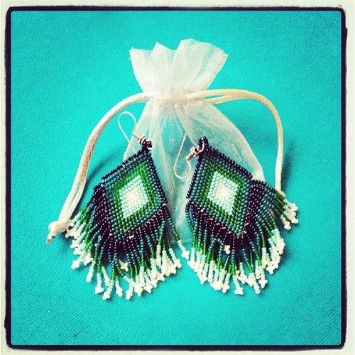 Bohemian treasury ♥ beaded earrings for treasurehunters only