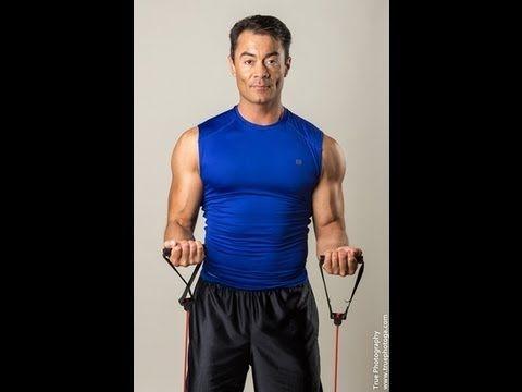 Rutina de Biceps con Tubos/Biceps Routine w/Resistance Tubes/www.Trainer...