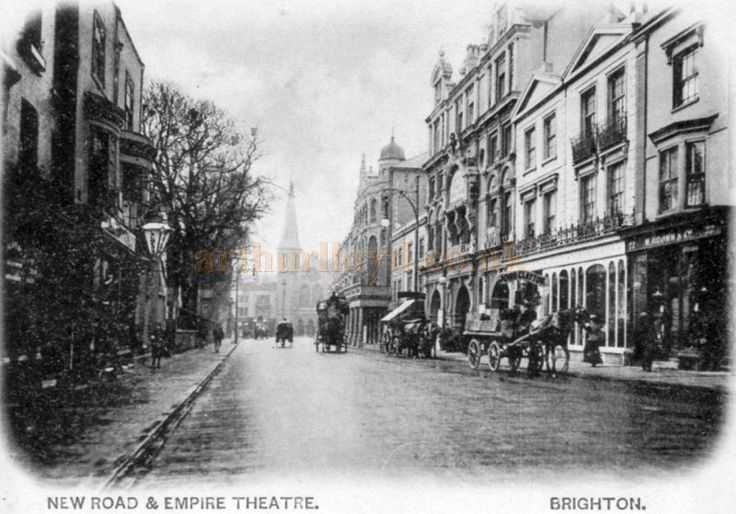 A rare early photograph of New Road and the Empire Theatre, Brighton, later the Dolphin Theatre