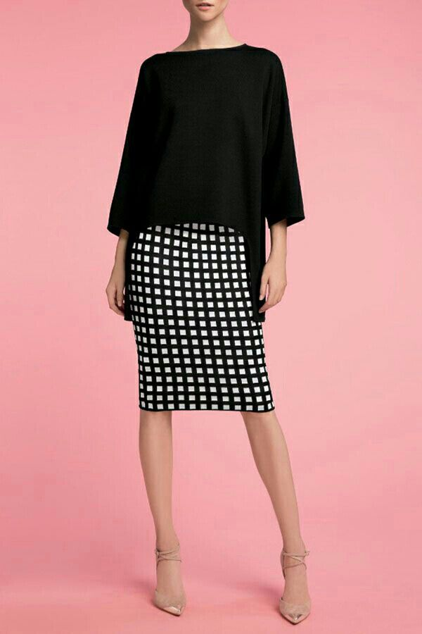 I love this look! Would love to see a top like this in my next fix! I have a similar black and white skirt